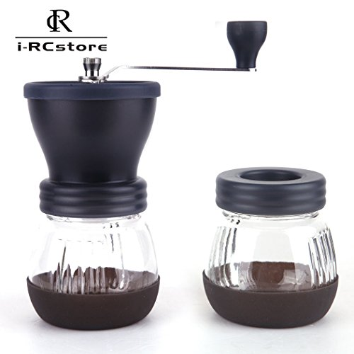 Buy RC Manual Ceramic Burr Coffee Grinder, Hand-crank Coffee Mill(Includes A Gift) Black