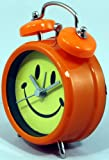 Smiley Face Alarm Clock - Orange