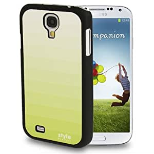 Gradient Green Cross Texture Skinning Plastic Case for Samsung Galaxy S4 i9500