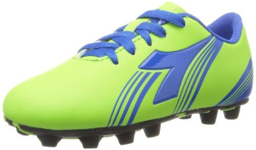 Diadora Soccer Avanti MD JR Soccer Shoe ,Lime Green/Dark Roy