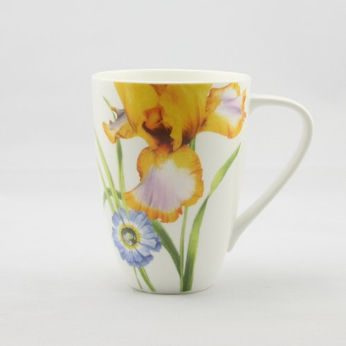 Fine Bone China Iris Large Mug