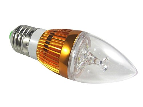 10 Pcs E 27 9W Golden (3 Smd) Flame High Power Led Chandelier Candle Light Bulb Non-Dimmable, Warm White