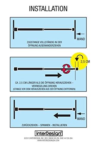 InterDesign-Constant-Tension-Duschvorhangstange-6604-10668-cm-Klein-Forma-Edelstahl-Gebrstet