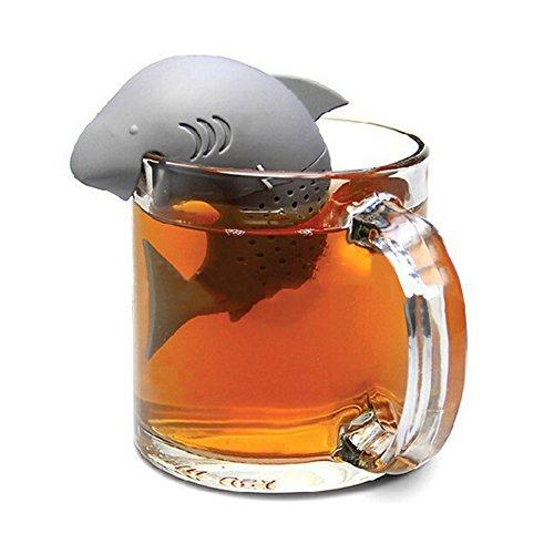 Askliy forme de requin de silicone diffuse R infuseur lâche feuille de thé outil de cuisine à la maison de la crépine
