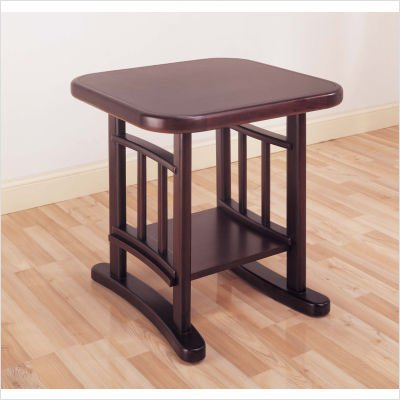 Cheap Hillsdale Versailles Square Wood Top End Table in Merlot (4182-882)