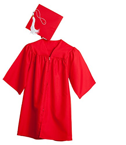Jostens Graduation Cap And Gown Package Medium Red (Graduation Cap And Gown For Kids compare prices)