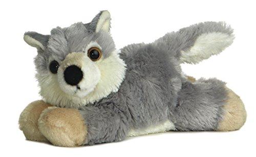 "Aurora WOOLSEY Wolf Mini Flopsie 8"" Plush Beanbag"