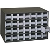Akro-Mils 19228 28 Drawer Steel Parts Storage Hardware and Craft Cabinet, Grey Drawers