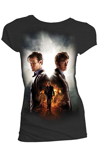 Doctor Who Day Of The Doctors Maglia donna nero S