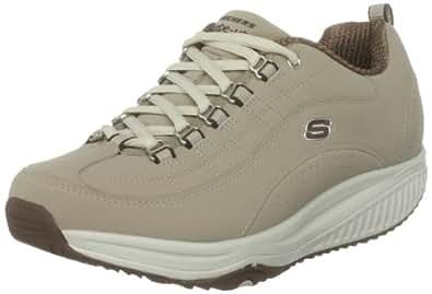 Skechers Women's Shape Ups XF Energy Blast Lace-Up Fashion Sneaker,Stone/Brown,8 M US