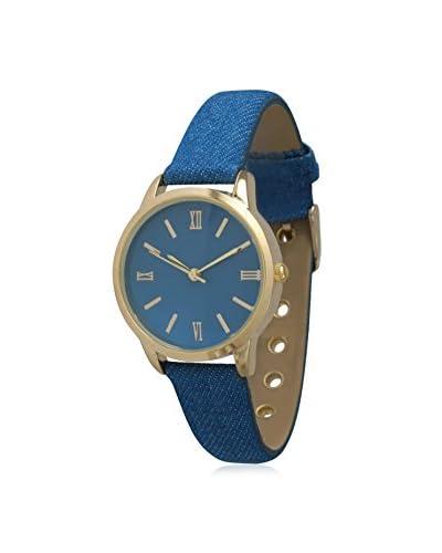 Olivia Pratt Women's 14086 Petite Denim Royal Blue Leather Watch