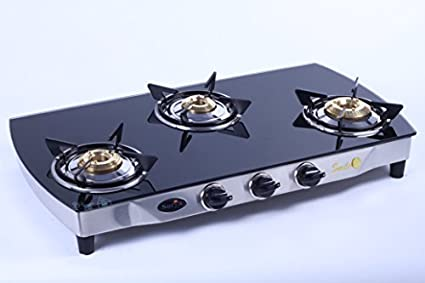 RJB IN Surya C Smart Glass Gas Cooktop (3 Burner)