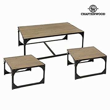 Set 3 tavoli toronto - Thunder Collezione by Craften Wood (1000027482)