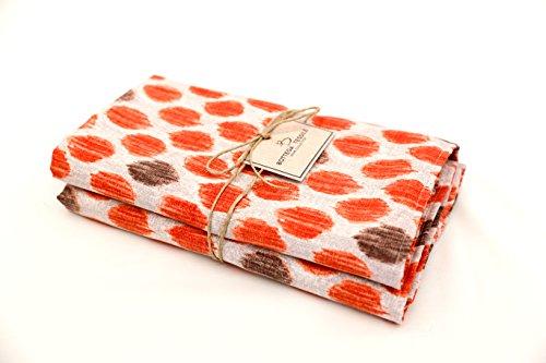 Copriletto Granfoulard Loneta Matrimoniale Design Esclusivo - Col. Arancio - 100% Made in Italy