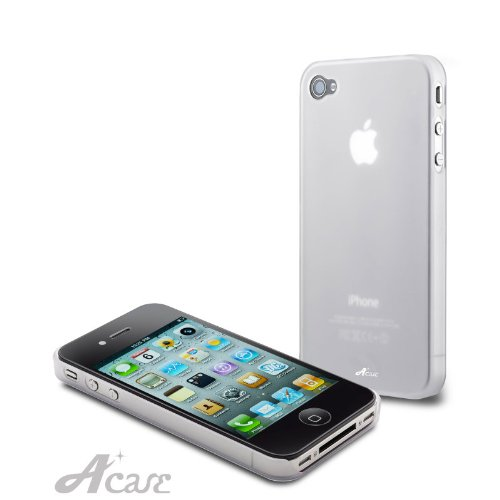 Acase(TM) Superleggera ice cube fit case for iPhone 4 with Screen Protector (Clear)