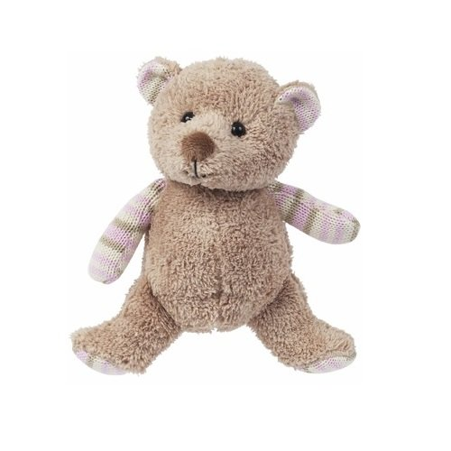 Maison Chic 10 inches  Traditinal Infant Collection Tan Girl Bear With Knit Trim