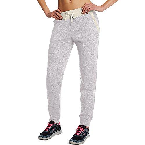 Champion Women's Fleece Jogger Pants_Oxford Heather/Oatmeal Heather_L