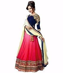 Siya Fashion women's Velvet Party Wear Unstitched Lengha Choli(SF252_ Pink color)
