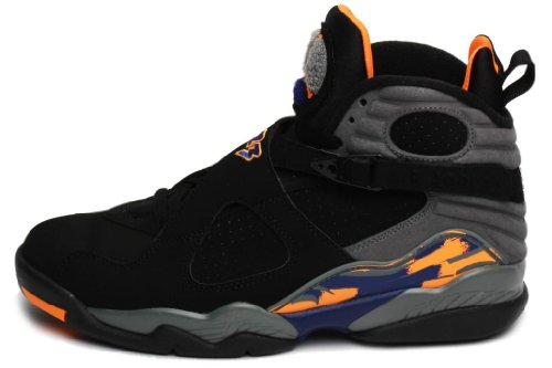 7b9c2fe879a The Features Nike Mens Air Jordan 8 Retro Basketball Shoes Bugs Bunny Black  Bright Cactus Cool Grey 305381 043 Size 8 -