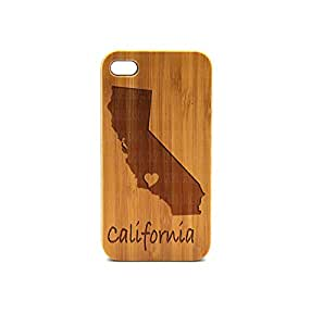Krezy Case Real Wood iPhone 4 Case, California iPhone 4 Case, eyes iPhone 4 Case, Wood iPhone Case