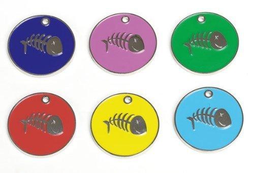 coloured-id-tag-with-fish-bone-for-cats-red-idnick31