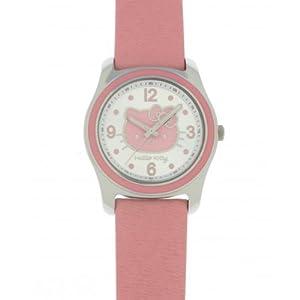 Hello Kitty Children's Analog Quartz Watch with Pink Leather Strap - 4401402