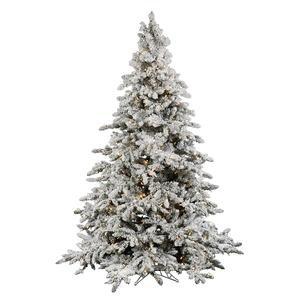 Vickerman 4.5 ft. Flocked Utica Fir Pre-lit Italian LED Christmas Tree