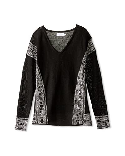 Velvet Women's Print Detail Sweater