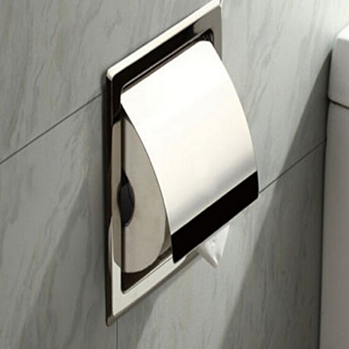1pc Polished Chrome Stainless Steel Bathroom Toilet Paper Holder Tissue Box Holder (Satin Polished Stainless Steel compare prices)