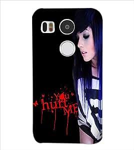 Fuson Hurted Girl Back Case Cover for LG NEXUS 5X - D3887