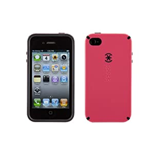 Speck Products CandyShell Rubberized Hard Case for iPhone 4 - AT&T - 1 Pack - Retail Packaging - LoveHate Pink