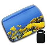 California Poppies For Amazon Kindle Fire & Kindle 3G Keyboard Soft Protection Neoprene Case Cover Sleeve Bag With Pocket which is Ideal for Headphones, Data Cable etc