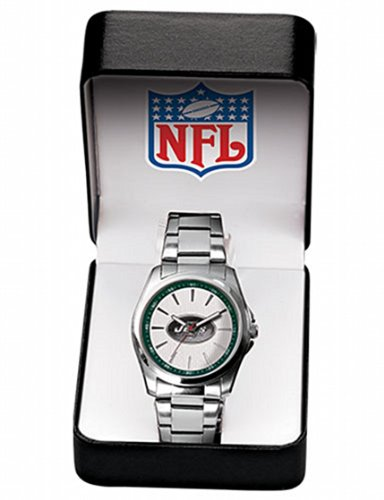 NFL New York Jets Watch Quartz Timepiece Silvertone One Size at Amazon.com