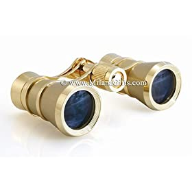 Milana Optics - Opera Glasses - Aria - Titanium Finish with Golden Rings