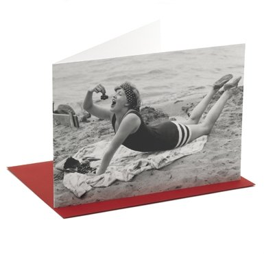 Beach Picnic'' Single Greetings Card