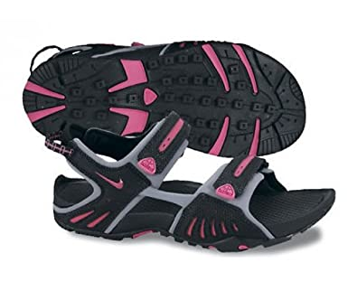 Amazon.com: Nike Wmns Santiam 4 Black Spark Pink Stealth Womens Sports