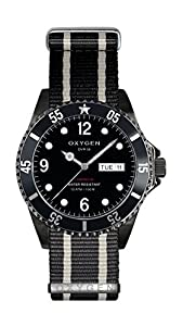Oxygen Moby Dick Black 36 Unisex Quartz Watch with Black Dial Analogue Display and Black Nylon Strap EX-D-MBB-36-NN-BLIVBL