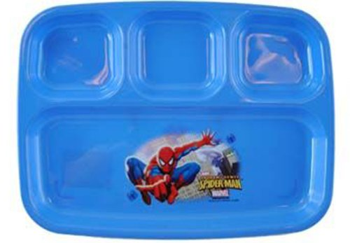 Marvel Spider-sense Spiderman 4 Section Divided Platter Plate - 1