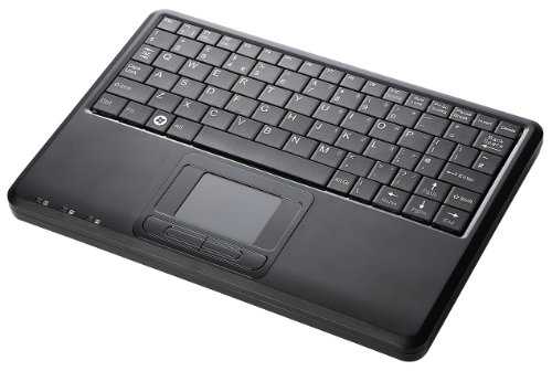 "Perixx Periboard-510H Plus, Wired Keyboard With Touchpad & Usb Port - Usb - Super Mini 9.05""X6.30""X0.90"" Dimension - Built-In 2 X Usb2.0 Hubs - Silent X Type Scissor Keys - Us English Layout front-282150"