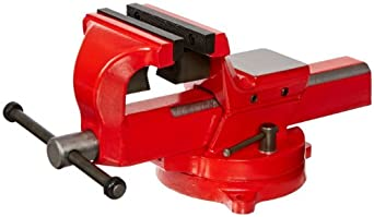 """Yost Vises FSV-5 5"""" Heavy-Duty Forged Steel Bench Vise with 360-Degree Swivel Base"""