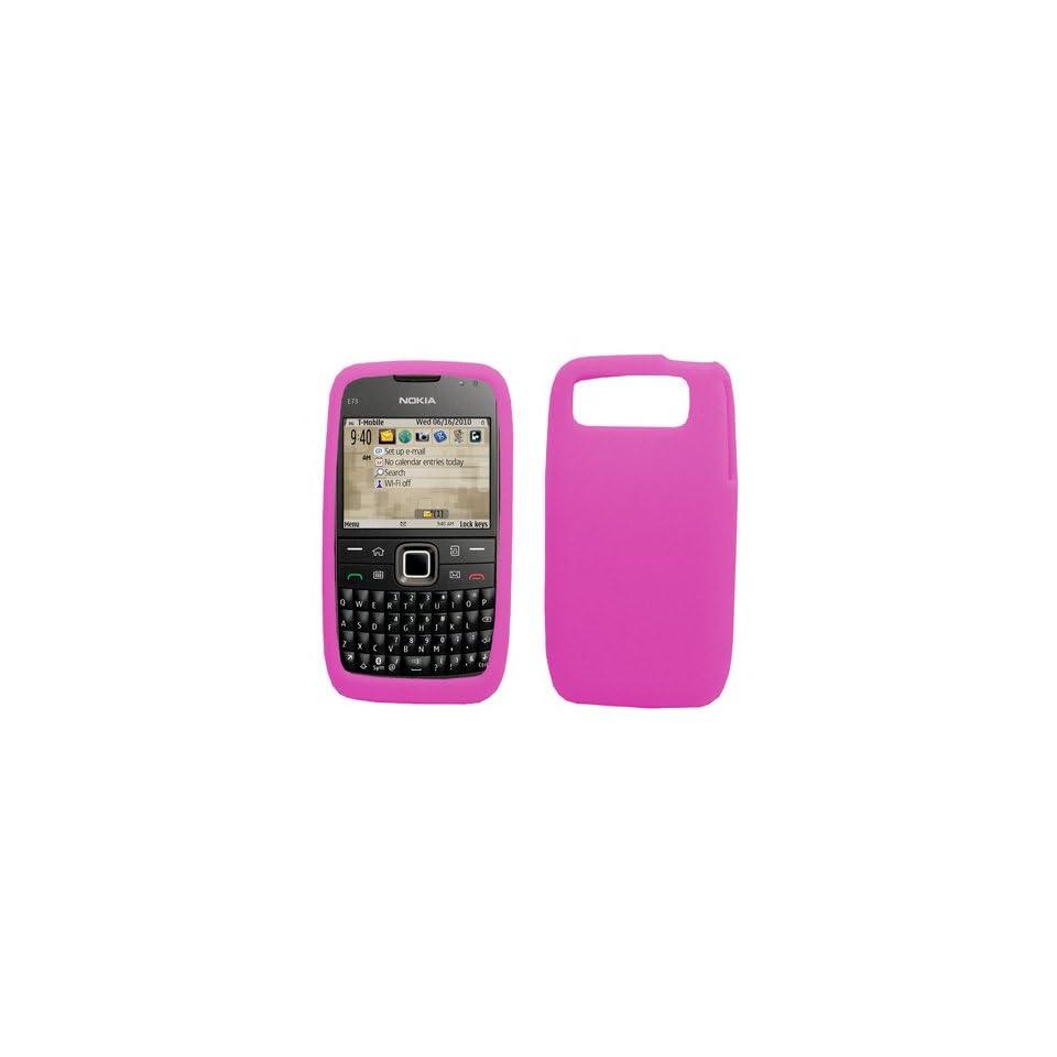 EMPIRE Hot Pink Silicone Skin Case Cover for T Mobile Nokia E73 Mode