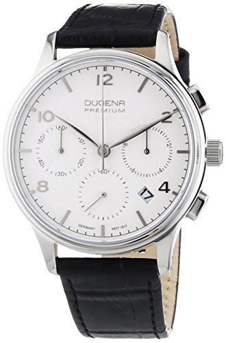 Dugena  Dugena Premium - Reloj de cuarzo para hombre, con correa de cuero, color negro