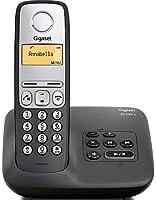 Gigaset AL 230 Telefono Cordless, Funzione Vivavoce/Sveglia/Mute, Nero