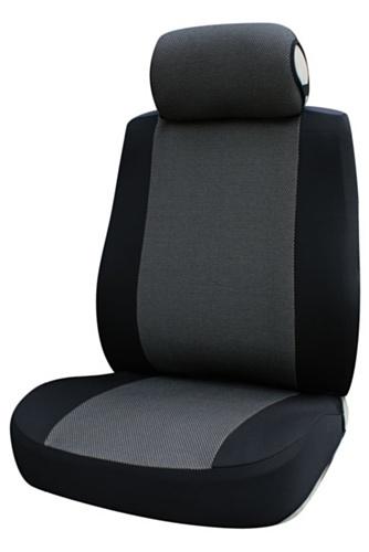 Cora 000129594 Fast&Smart Coprisedili Anteriori Auto, Taglia Grande, Ron-Grigio