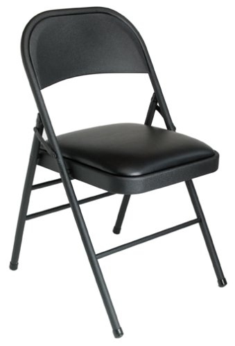 Folding Chair - Black Vinyl