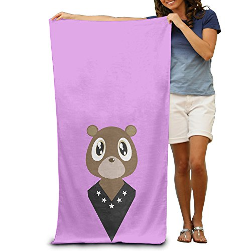 POY-SAIN Kanye Fashion Cool Bear Bath Towel And Beach Towel Size White