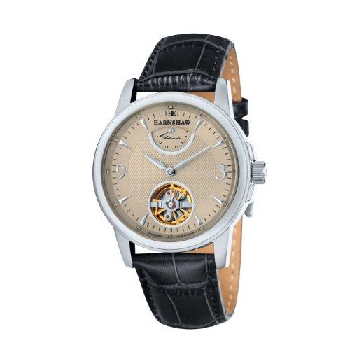Thomas Earnshaw - ES-8014-03 - Flinders - Montre Homme - Automatique Analogique - Cadran Beige - Bracelet Cuir Noir