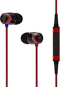 SoundMAGIC E10M Isolating Earphones with Apple Mic - Black/Red