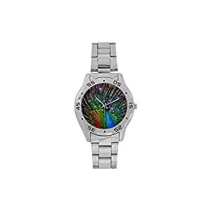 Peack Open The Feather Men's or Boys' style Stainless Steel Traveller Analog Watches