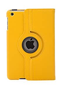iPad mini Case, Flip Cover Book Case With Stand With Wake Sleep For Apple iPad mini with Retina display (iPad mini 2) - Yellow